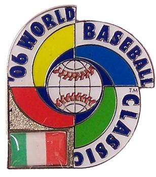 2006 World Baseball Classic Team Italy Pin