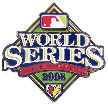 2008 World Series Logo Pin