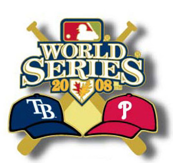 Tampa Bay Rays vs. Philadelphia Phillies 2008 World Series Dueling Pin - Design #1