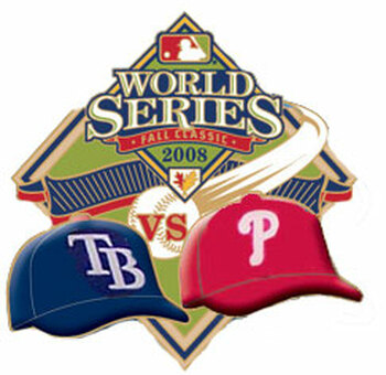 Tampa Bay Rays vs. Philadelphia Phillies 2008 World Series Dueling Pin - Desgin #2