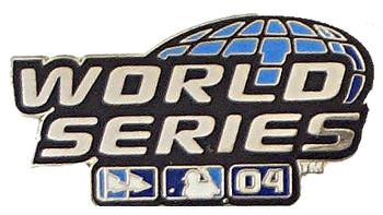 2004 World Series Logo Pin