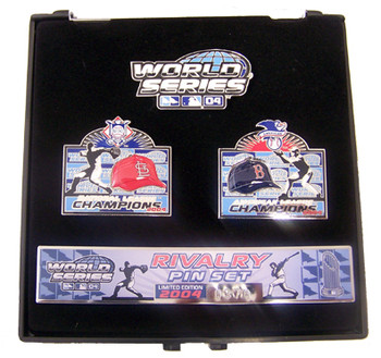 2004 World Series Red Sox vs. St. Louis Cardinals Rivalry Pin Set - Limited 2,004