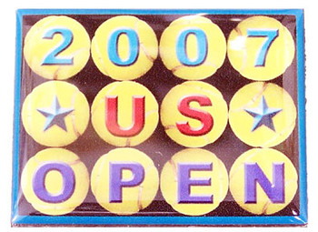 2007 US Open Silver Plated Magnet
