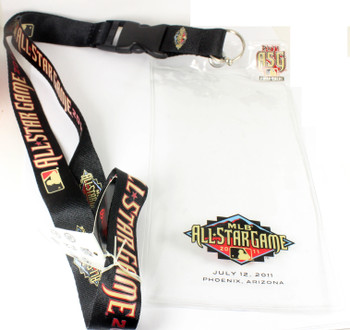 "2011 MLB All-Star Game Lanyard w/ Ticket Holder & ""I Was There"" Pin"