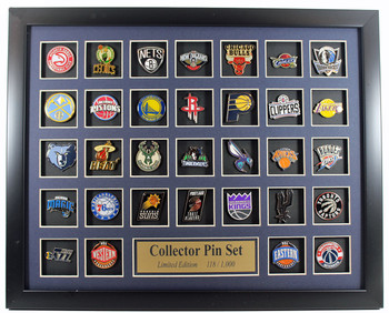 NBA Team Logo Collector Framed Pin Set - Limited Edition 1,000