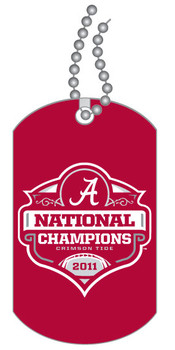 Alabama 2011 National Champs Dog Tag w/ Chain