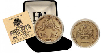 Antique Bronze BCS Championship Commemorative Game Coin - Limited 25,000