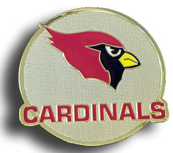 Arizona Cardinals Metalic Brass Magnet