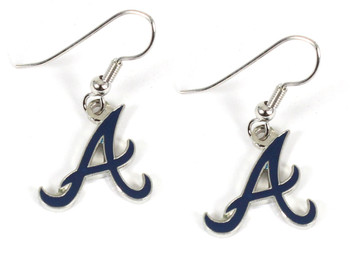 "Atlanta Braves ""A"" Earrings"