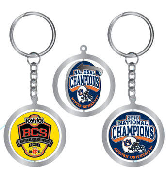 Auburn 2010 National Champions Spinning Key Chain