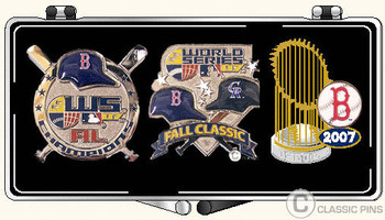 Boston Red Sox 2007 World Series Champs 3 Pin Set