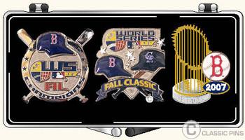 Boston Red Sox 2007 World Series Champs 3 Pin Set