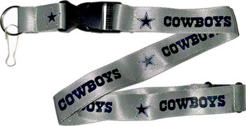Dallas Cowboys Lanyard - Silver