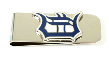 Detroit Tigers Brass Money Clip