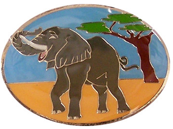 Elephant Brass Magnet