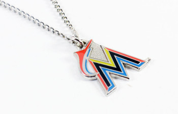 Miami Marlins Logo Necklace