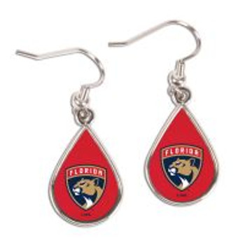Florida Panthers Tear Drop Earrings