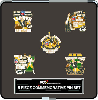 Green Bay Packers Brett Favre Collector Pin Set