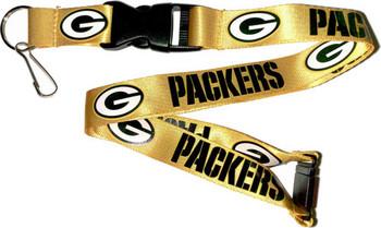 Green Bay Packers Lanyard - Gold