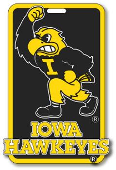 Iowa Hawkeyes Luggage / Bag Tag