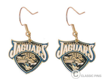 Jacksonville Jaguars Logo Earrings