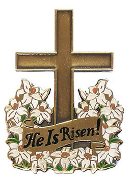 """He Is Risen"" Lapel Pin"