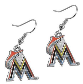 Miami Marlins Logo Earrings