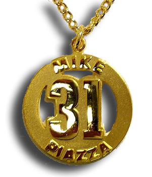 Mike Piazza #31 Gold Plated Medallion