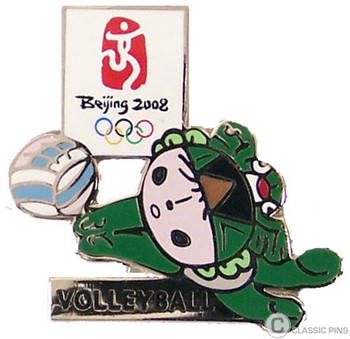 Beijing 2008 Olympics Volleyball Pin - Nini