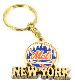 New York Mets Brass Key Chain