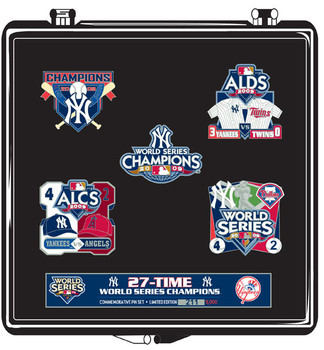 New York Yankees 2009 World Series Champs Pin Set - Limited 5,000