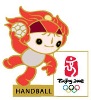 Beijing 2008 Olympics Huanhuan Handball Pin