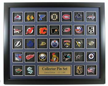 NHL Team Logo Collector Framed Pin Set - Limited Edition 1,000