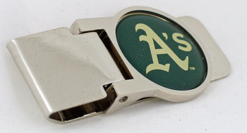 Oakland A's Brass Money Clip