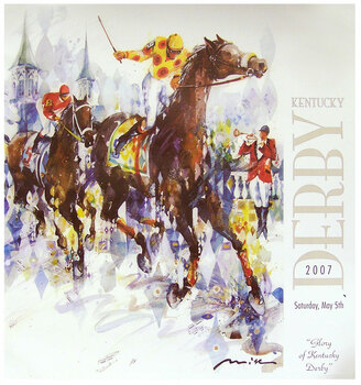 Official Kentucky Derby 133 Poster by Misha Lenn