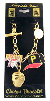 Pittsburgh Pirates 5 Charm Bracelet