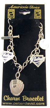San Diego Padres 5 Charm Bracelet