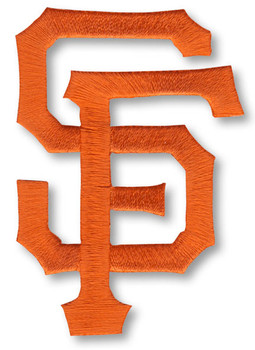 "San Francisco Giants ""SF"" Embroidered Emblem Logo Patch – 4"""