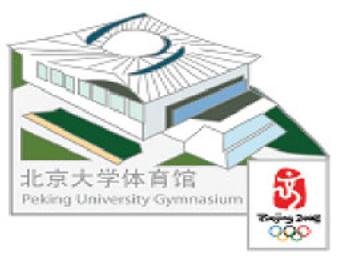 Beijing 2008 Olympics Beijing University Gymnasium Pin - Imported from Beijing