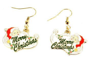 Santa Claus Merry Christmas Earrings