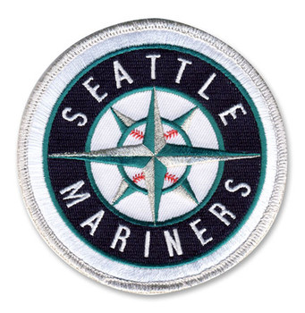 """Seattle Mariners Embroidered Emblem Patch – 4"""""""