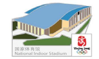 Beijing 2008 Olympics National Indoor Stadium Pin - Imported from Beijing