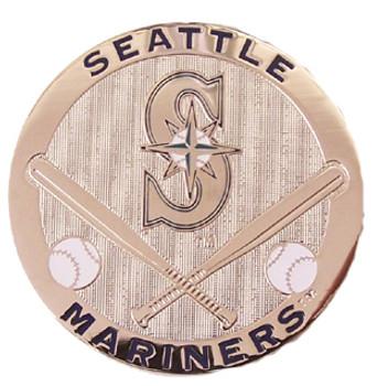 Seattle Mariners Silver Plated Magnet