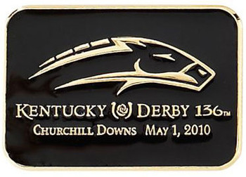 136th Kentucky Derby Logo Pin - Black