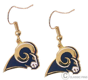 Los Angeles Rams Logo Earrings