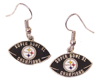 Super Bowl XL (40) Pittsburgh Steelers Champion Earrings