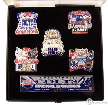 Super Bowl XLI (41) Indianapolis Colts Champs Pin Set - Limited 5,000