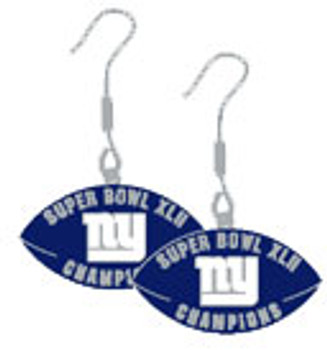 Super Bowl XLII (42) New York Giants Champs Earrings