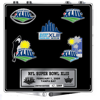 Super Bowl XLIII (43) Five Pin Commemorative Set - Limited 2,009