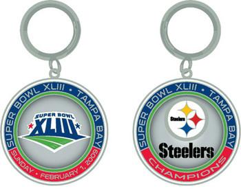 Super Bowl XLIII (43) Pittsburgh Steelers Champs Ultimate Key Chain